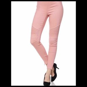 New Mix Leggings with Ankle Zipper